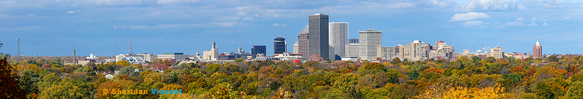 Rochester Skyline from Cobbs Hill by Sheridan Vincent