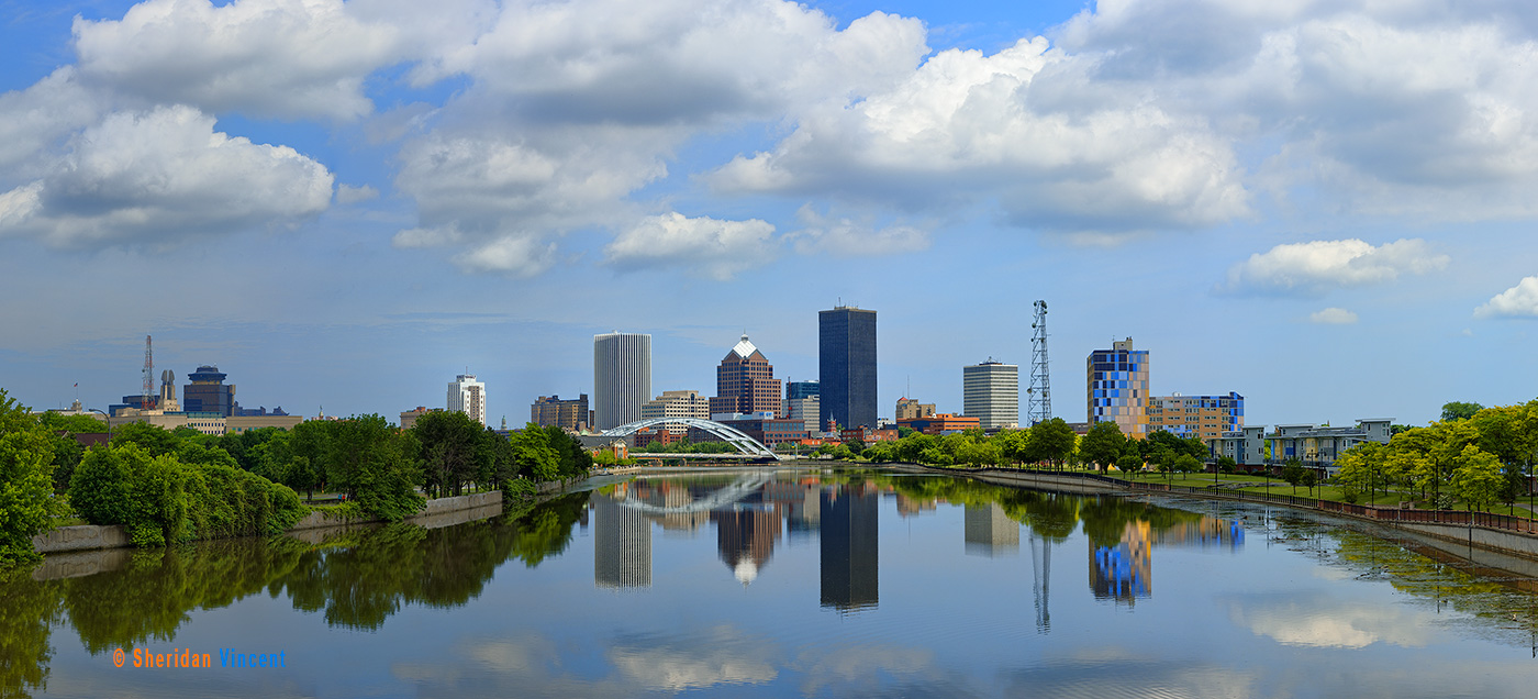 Genesee Skyline Reflection by Sheridan Vincent