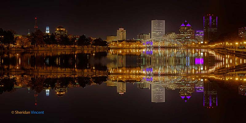 Mirrored Skyline 2016 by Sheridan Vincent