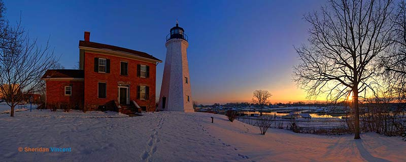 Charlotte Genesee Lighthouse Sunrise 2016 by Sheridan Vincent